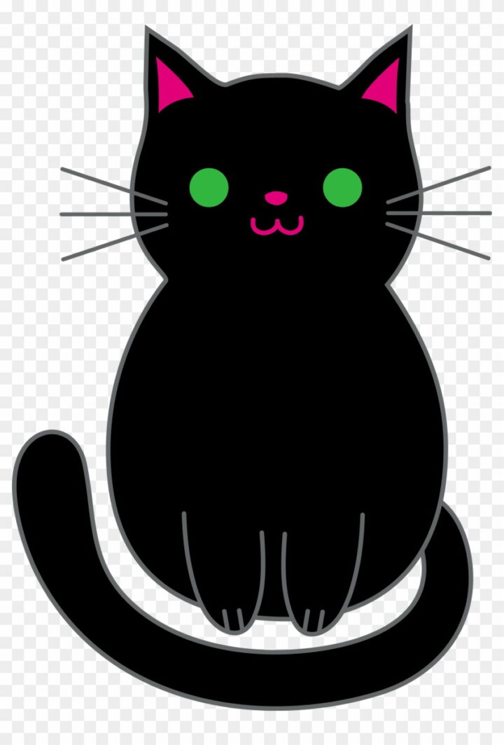 Anime Black Clipart Cute Black Cat Animated Image Provided.