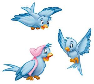 Animated Blue Bird Clipart.