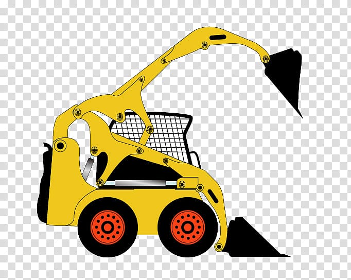 Excavator Bulldozer Cartoon, Cartoon Excavator transparent.