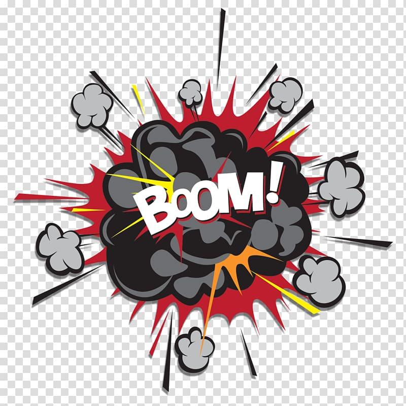 Black cloud illustration, PowerPoint animation Explosion.