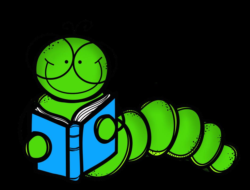 Cute Bookworm Cliparts.