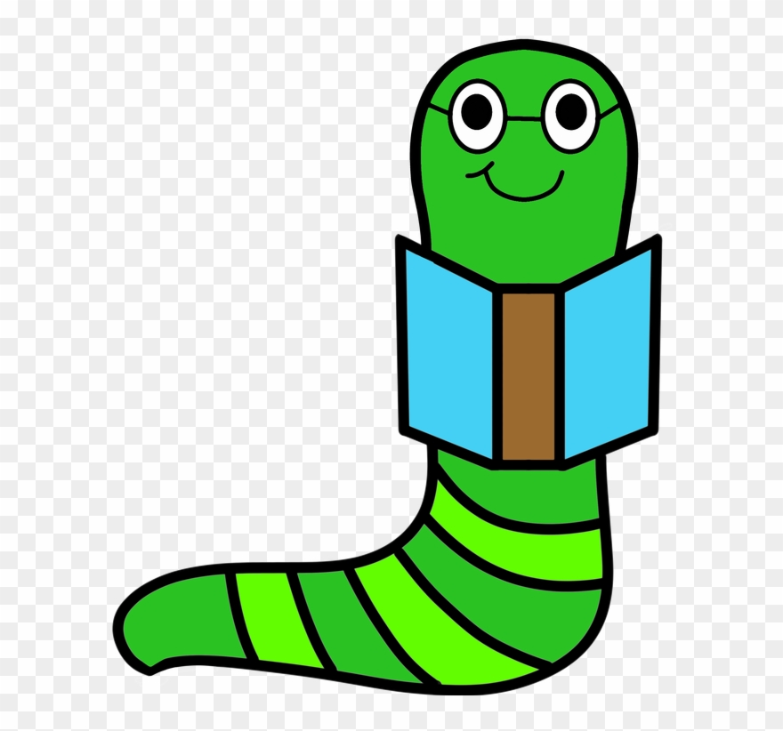 Bookworm Clipart (#2182564).