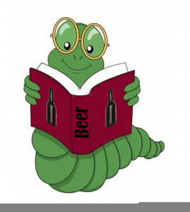 Animated Bookworm Clipart.