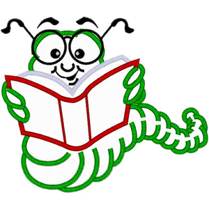 Free Animated Bookworm Clipart.