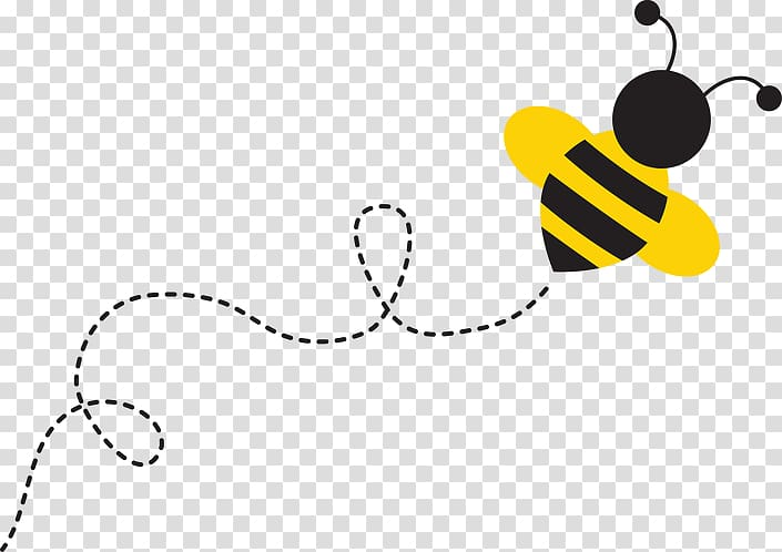 Animated bee illustration, The Buzzing Bee Bumblebee , bee.