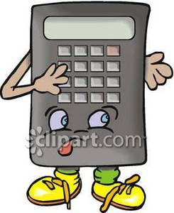 Animated Calculator Royalty Free Clipart Picture.