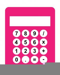 Animated Calculator Clipart.