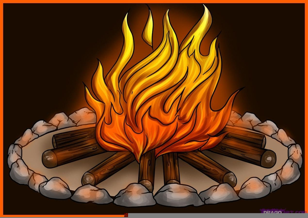 Free Animated Campfire Clipart.