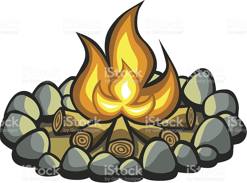 Animated Campfire Clipart.