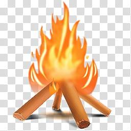 Camping Icons, campfire, bonfire illustration transparent.