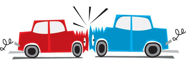 Car crash clipart animated.
