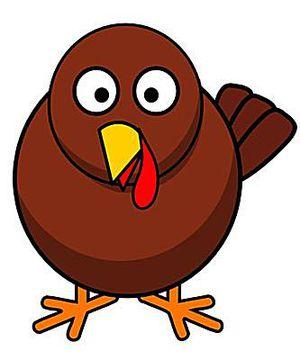 Cartoon Turkey Clipart.