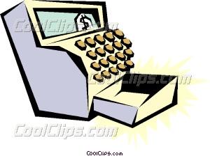 Cash register Vector Clip art.