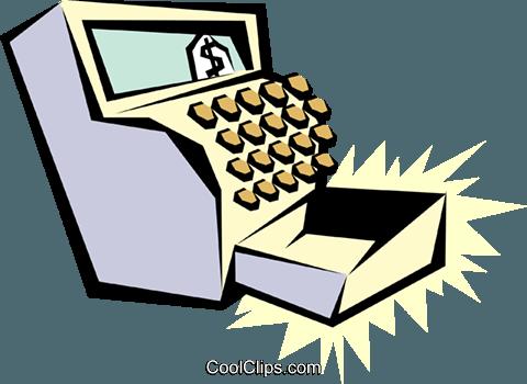Cash register Royalty Free Vector Clip Art illustration.