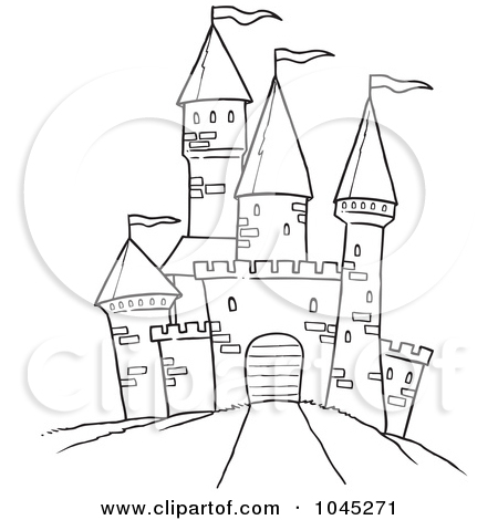 Similiar Black And White Cartoon Castle Keywords.