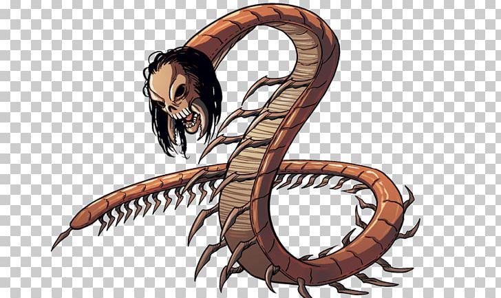 Scolopendra Gigantea Cartoon Comics Centipedes Drawing PNG.
