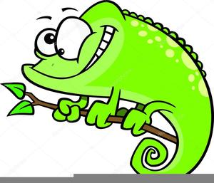 Animated Chameleon Clipart.