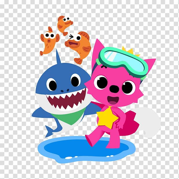 Pinkfong Baby Shark Song, little baby, shark and cat.