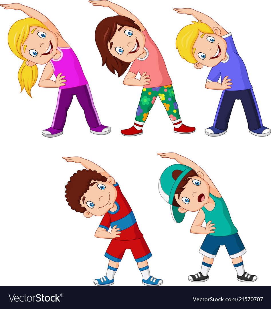 Animated character clipart exercise images Transparent.