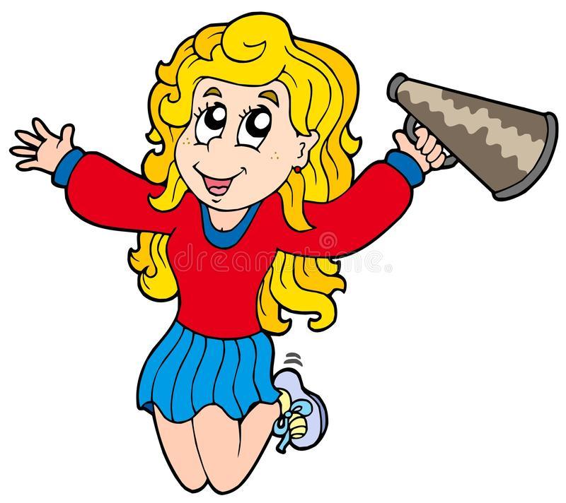 Cartoon Cheerleader Stock Illustrations.