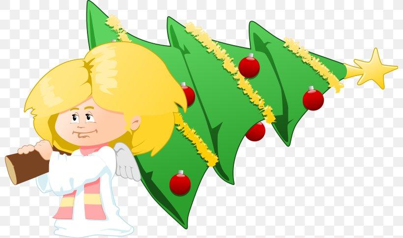 Christmas Tree Angel Nativity Scene Clip Art, PNG, 800x485px.