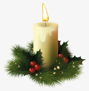 Free Christmas Candle Clip Art with No Background.