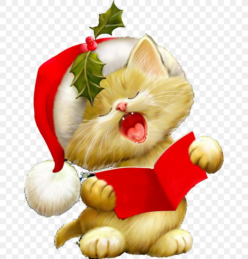 Cat Kitten Clip Art Christmas Clip Art, PNG, 660x855px, Cat.