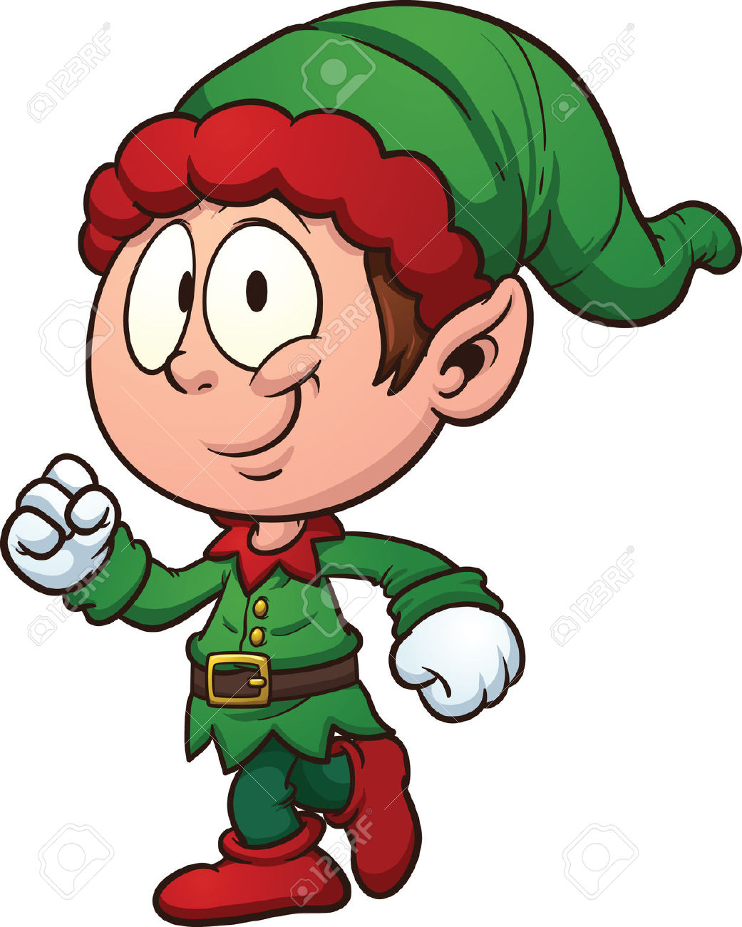 Animated Elf Clipart.