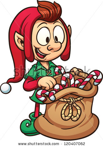 Cartoon Elf Stock Images, Royalty.