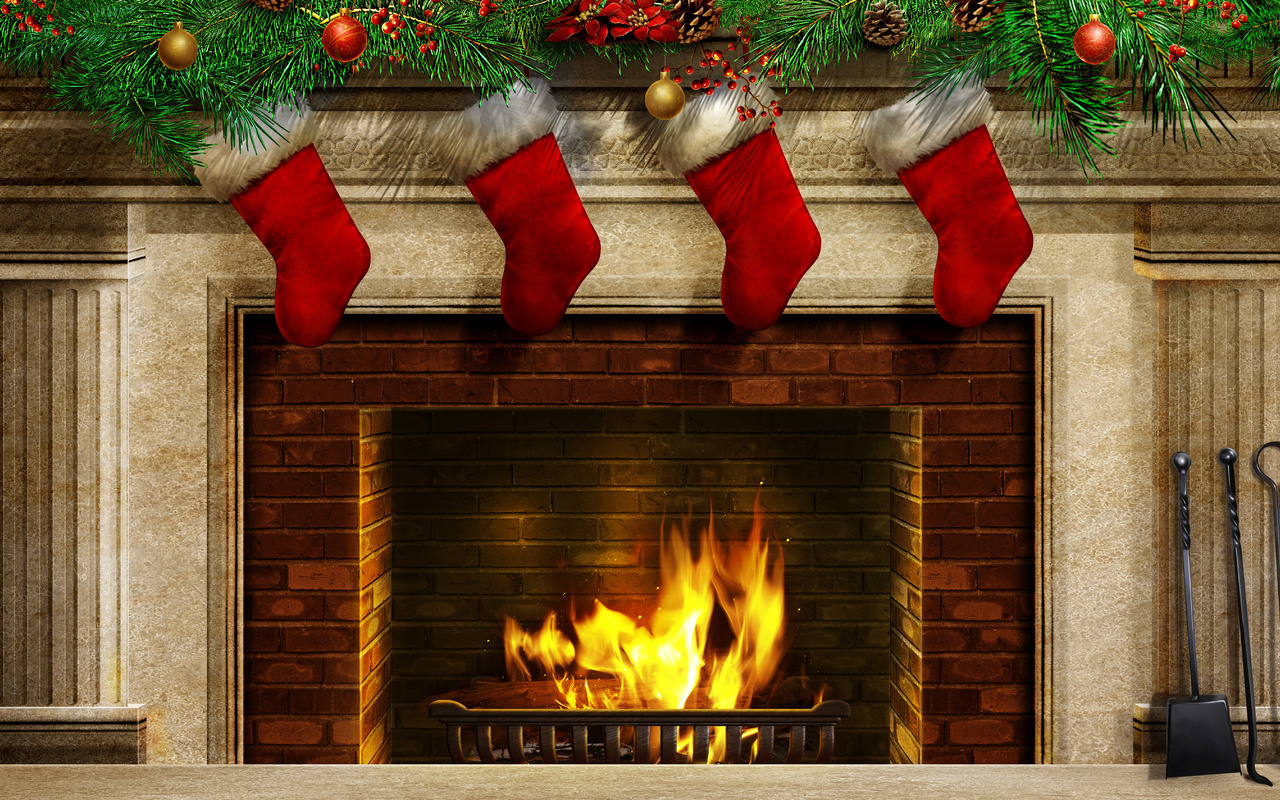 Free download Christmas Fireplace Background Clipart Images.