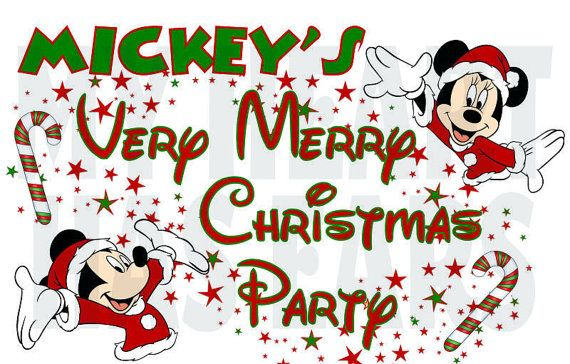 Printable DIY Disney Mickey Minnie Mouse very Merry.
