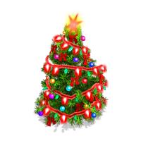 SnowVille Animated Christmas Tree.