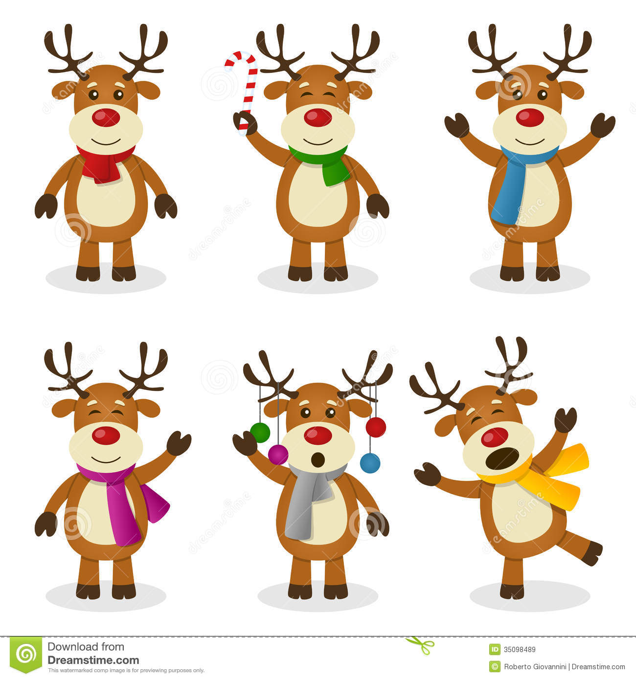 Animated Christmas Reindeer Clipart.