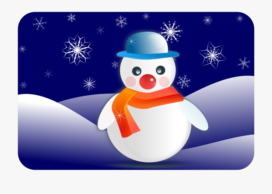 Snowman Nightscene.