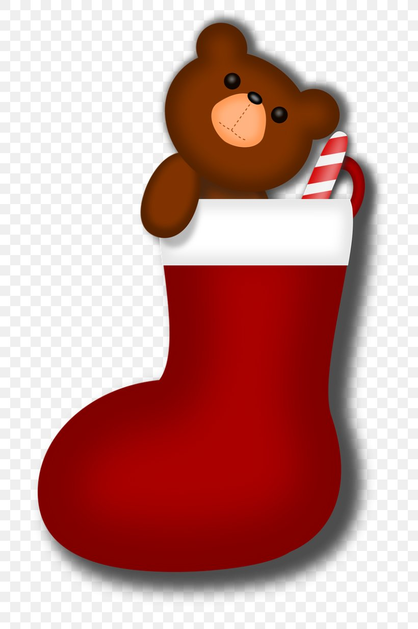 Candy Cane Christmas Stockings Sock Clip Art, PNG.