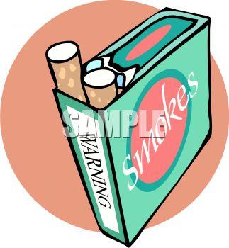 Retro Pack of Cigarettes.