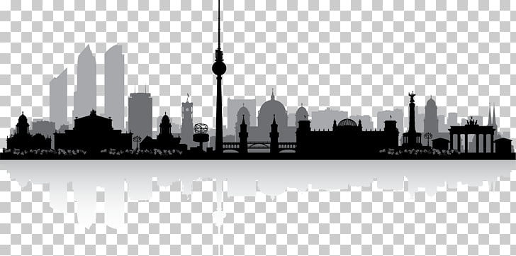 Berlin Photography Silhouette, building silhouette, animated.