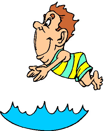 Swimming animated clipart.