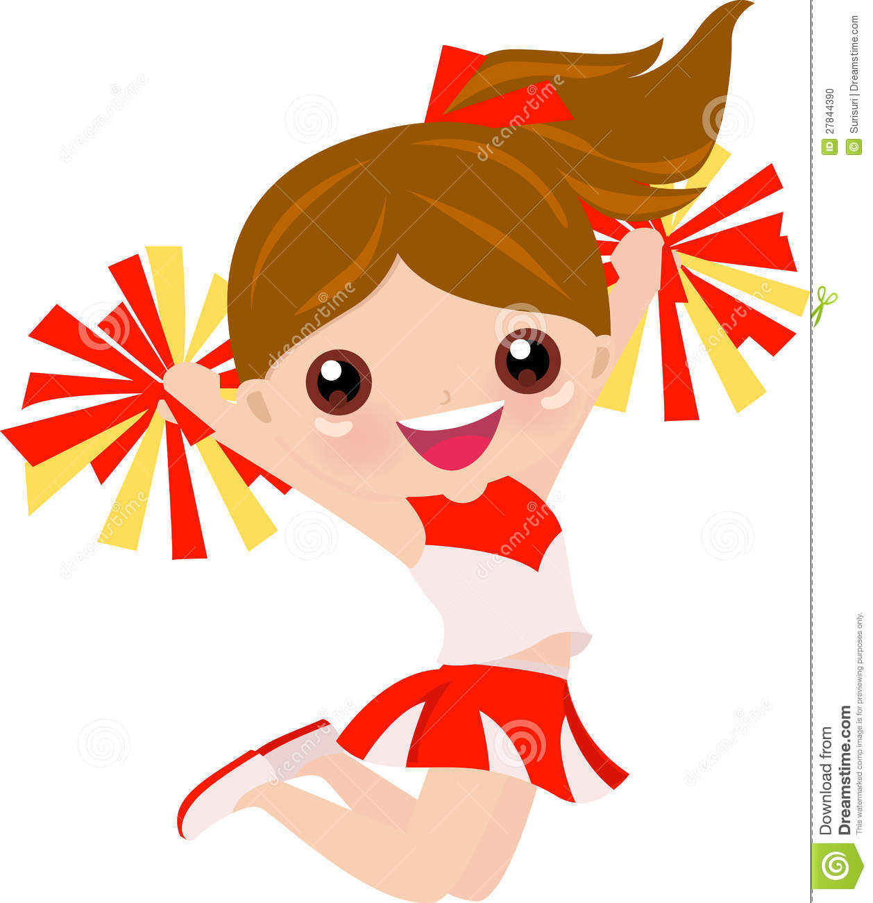 Cartoon Cheerleading Images.