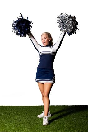 Animated Cheerleading Clipart.