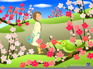 Animated Spring Flowers Clipart.