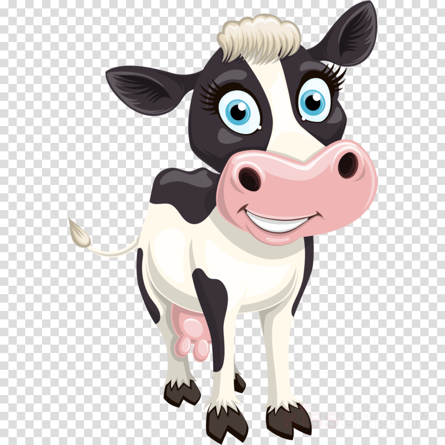 cartoon animated cartoon dairy cow bovine clip art clipart.