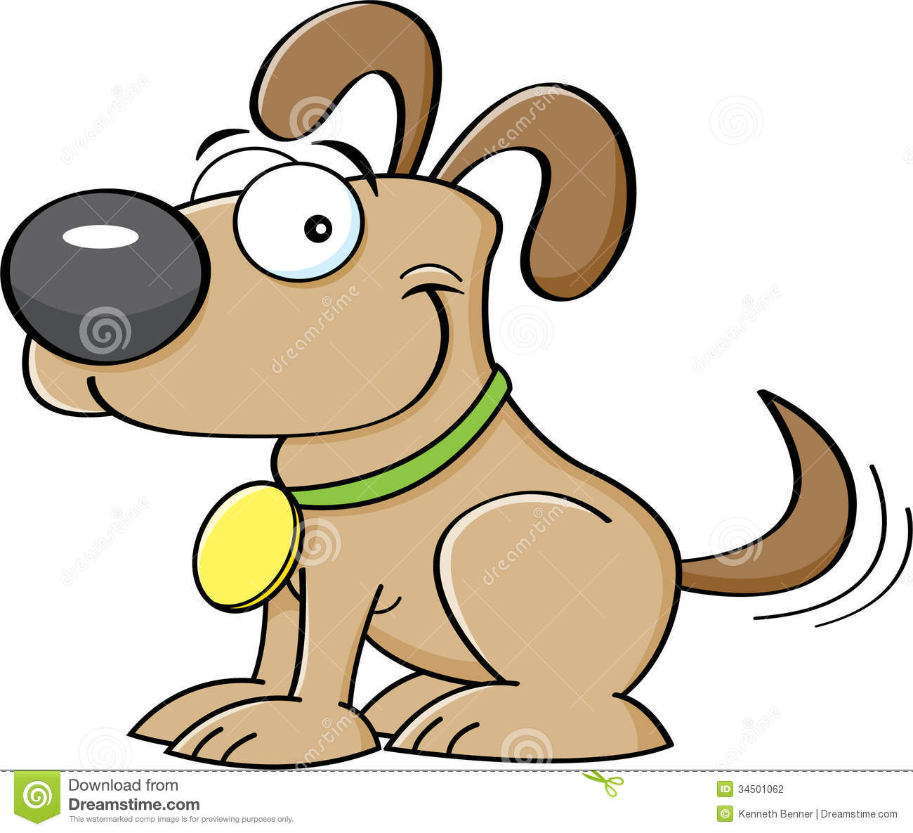 Showing post & media for Cartoon dog wagging tail.