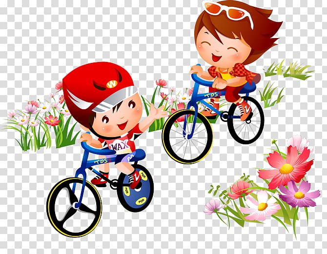 Bicycle Sport Cycling , Flowers bike cartoon children.