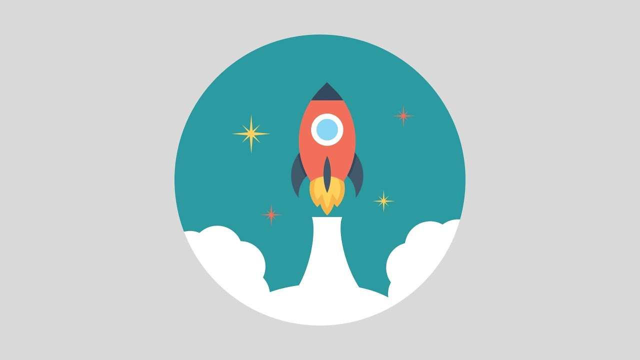 PowerPoint Animation Tutorial Motion Graphic Rocket.