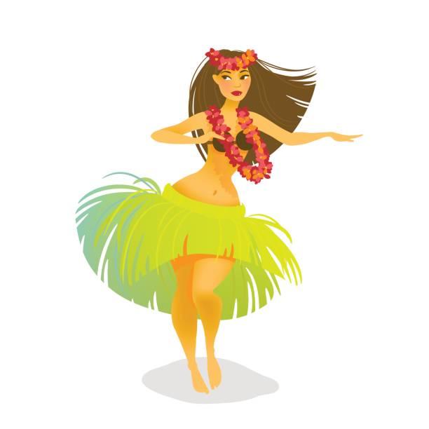 Hawaiian Hula Girl Clipart.