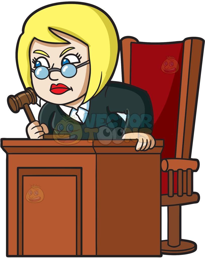 Female Judge Clipart.