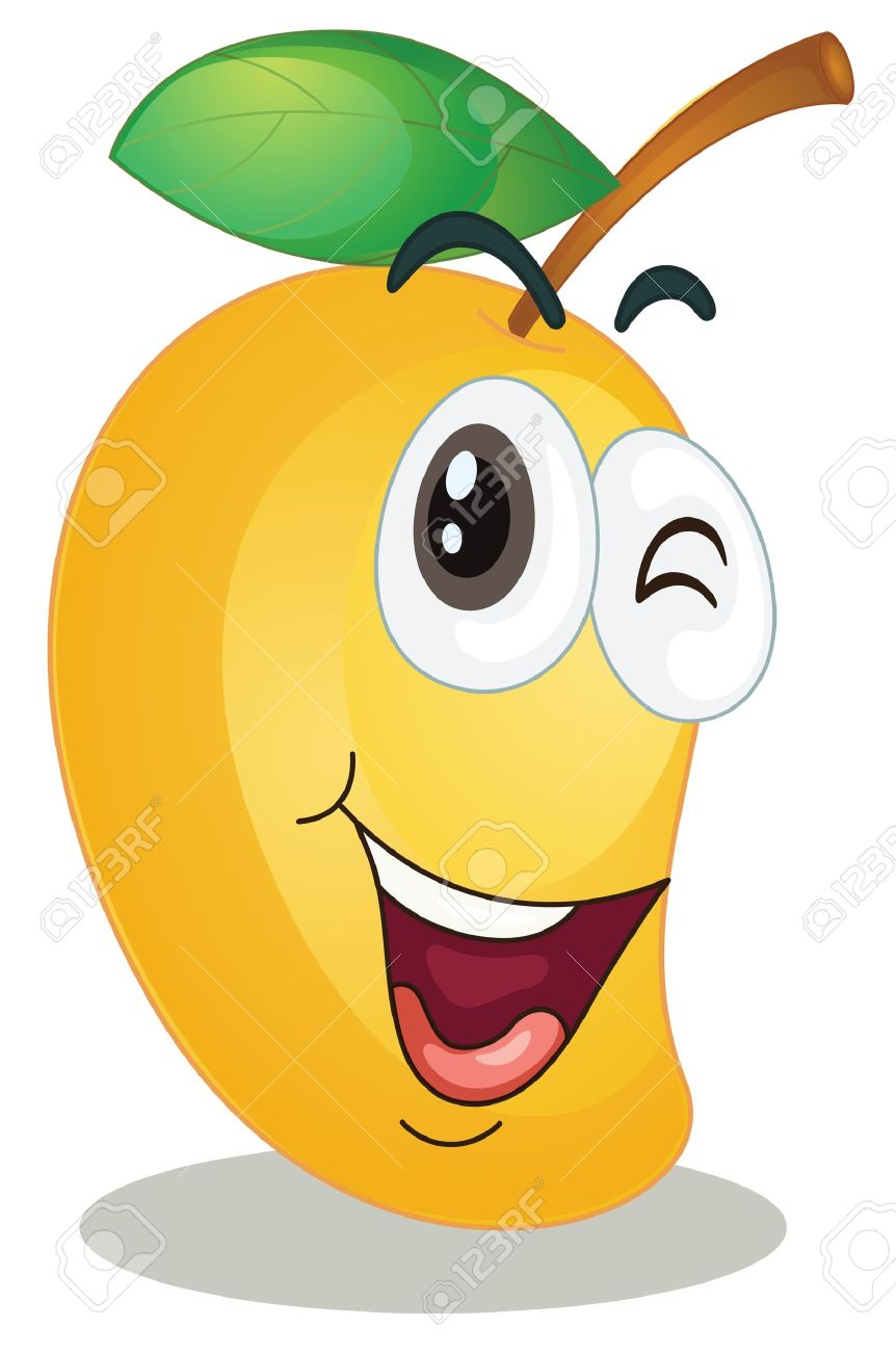 Mango Clipart Cartoon.
