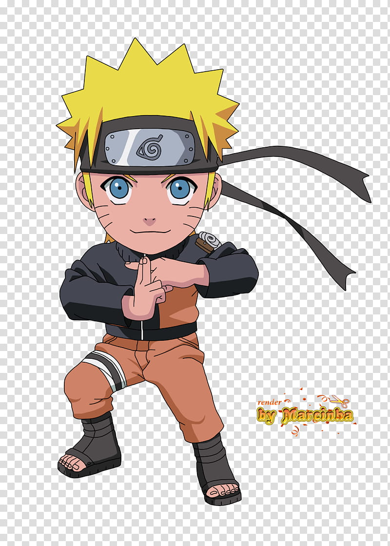 Render Chibi Naruto, Naruto Shipudden illustration.