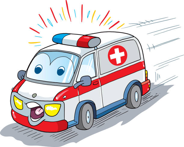 Cute Ambulance Clipart.
